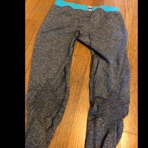 Gymshark OG fit leggings gray turquoise S 2-4
